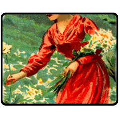 Lady 1334282 1920 Double Sided Fleece Blanket (medium)  by vintage2030
