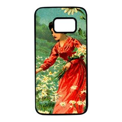 Lady 1334282 1920 Samsung Galaxy S7 Black Seamless Case by vintage2030