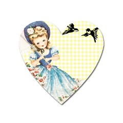 Girl 1370912 1280 Heart Magnet by vintage2030