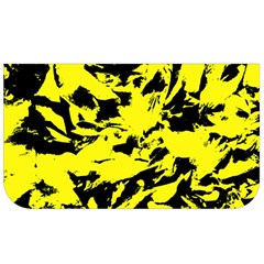 Yellow Black Abstract Military Camouflage Lunch Bag