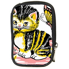 Cat 1348502 1920 Compact Camera Leather Case by vintage2030
