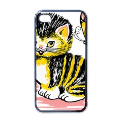 Cat 1348502 1920 Apple Iphone 4 Case (black) by vintage2030