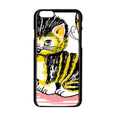 Cat 1348502 1920 Apple Iphone 6/6s Black Enamel Case by vintage2030