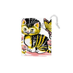 Cat 1348502 1920 Drawstring Pouch (xs) by vintage2030