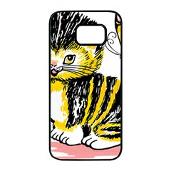 Cat 1348502 1920 Samsung Galaxy S7 Edge Black Seamless Case by vintage2030
