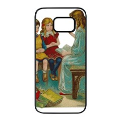 Angel 1347118 1920 Samsung Galaxy S7 Edge Black Seamless Case by vintage2030