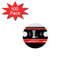 Compact Cassette 1  Mini Buttons (100 Pack)  by vintage2030