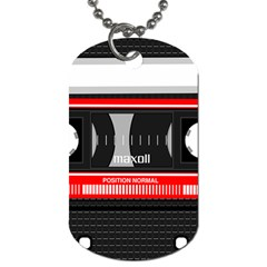 Compact Cassette Dog Tag (two Sides) by vintage2030