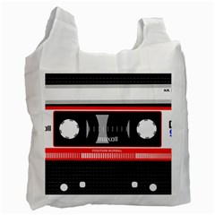 Compact Cassette Recycle Bag (one Side) by vintage2030
