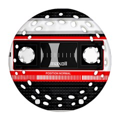 Compact Cassette Ornament (round Filigree) by vintage2030