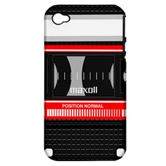 Compact Cassette Apple Iphone 4/4s Hardshell Case (pc+silicone)