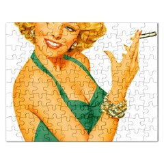Woman 792872 1920 Rectangular Jigsaw Puzzl by vintage2030