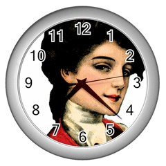 Lady 1032898 1920 Wall Clock (silver) by vintage2030