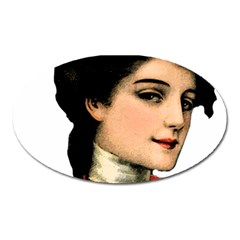 Lady 1032898 1920 Oval Magnet by vintage2030