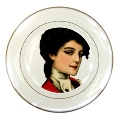 Lady 1032898 1920 Porcelain Plates by vintage2030