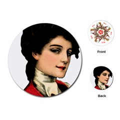 Lady 1032898 1920 Playing Cards (round)  by vintage2030