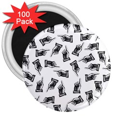 Pointing Finger Pattern 3  Magnets (100 Pack)
