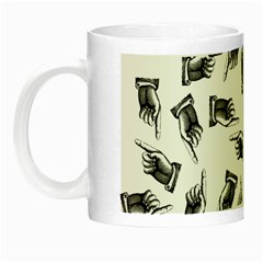 Pointing Finger Pattern Night Luminous Mugs by Valentinaart