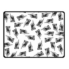 Pointing Finger Pattern Double Sided Fleece Blanket (small)
