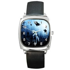 Wolfs Square Metal Watch by Valentinaart