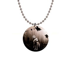 Wolfs Button Necklaces by Valentinaart