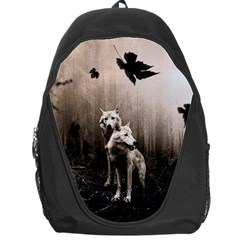Wolfs Backpack Bag by Valentinaart