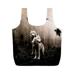 Wolfs Full Print Recycle Bag (m) by Valentinaart