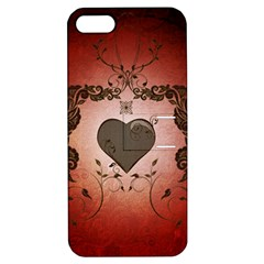 Wonderful Heart With Decorative Elements Apple Iphone 5 Hardshell Case With Stand by FantasyWorld7