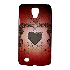 Wonderful Heart With Decorative Elements Samsung Galaxy S4 Active (i9295) Hardshell Case by FantasyWorld7