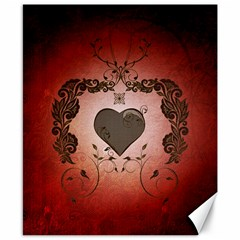 Wonderful Heart With Decorative Elements Canvas 8  X 10