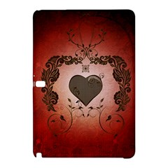 Wonderful Heart With Decorative Elements Samsung Galaxy Tab Pro 10 1 Hardshell Case by FantasyWorld7