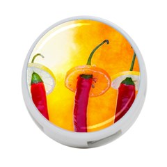 Three Red Chili Peppers 4 Port Usb Hub (two Sides) by FunnyCow