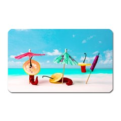 Red Chili Peppers On The Beach Magnet (rectangular) by FunnyCow