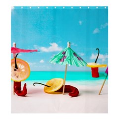 Red Chili Peppers On The Beach Shower Curtain 66  X 72  (large)  by FunnyCow