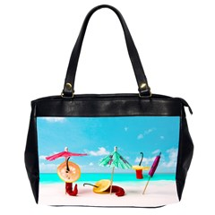 Red Chili Peppers On The Beach Oversize Office Handbag (2 Sides) by FunnyCow