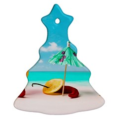 Red Chili Peppers On The Beach Ornament (christmas Tree)  by FunnyCow