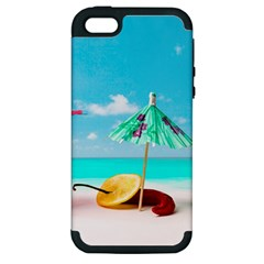 Red Chili Peppers On The Beach Apple Iphone 5 Hardshell Case (pc+silicone) by FunnyCow
