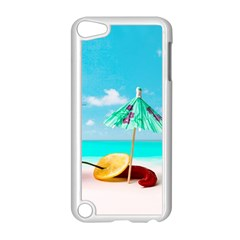 Red Chili Peppers On The Beach Apple Ipod Touch 5 Case (white) by FunnyCow