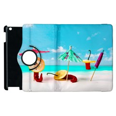 Red Chili Peppers On The Beach Apple Ipad 2 Flip 360 Case by FunnyCow