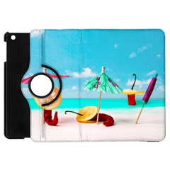 Red Chili Peppers On The Beach Apple Ipad Mini Flip 360 Case by FunnyCow