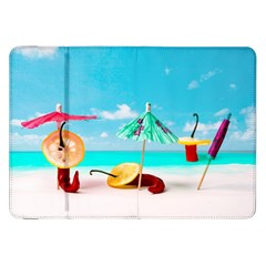 Red Chili Peppers On The Beach Samsung Galaxy Tab 8 9  P7300 Flip Case by FunnyCow
