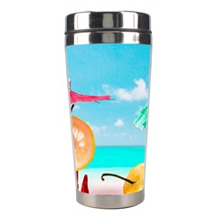 Red Chili Peppers On The Beach Stainless Steel Travel Tumblers by FunnyCow