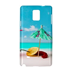 Red Chili Peppers On The Beach Samsung Galaxy Note 4 Hardshell Case by FunnyCow