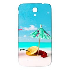 Red Chili Peppers On The Beach Samsung Galaxy Mega I9200 Hardshell Back Case by FunnyCow