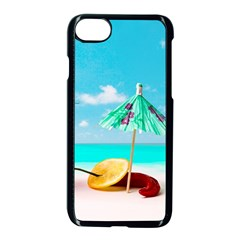 Red Chili Peppers On The Beach Apple Iphone 8 Seamless Case (black) by FunnyCow