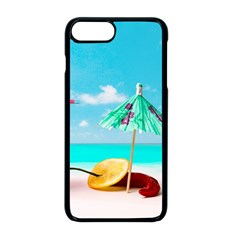 Red Chili Peppers On The Beach Apple Iphone 8 Plus Seamless Case (black) by FunnyCow