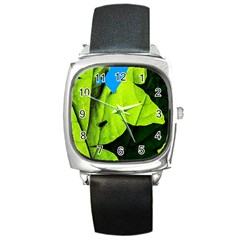 Window Of Opportunity Square Metal Watch by FunnyCow