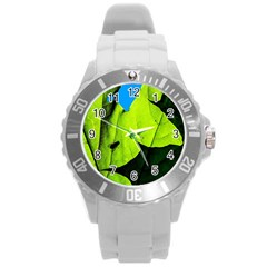 Window Of Opportunity Round Plastic Sport Watch (l) by FunnyCow