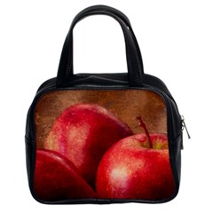 Three Red Apples Classic Handbag (two Sides) by FunnyCow
