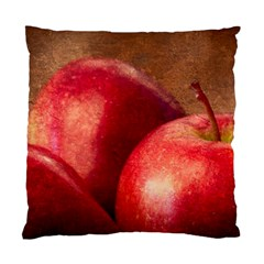 Three Red Apples Standard Cushion Case (one Side) by FunnyCow